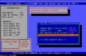 Balzer 2000 pour MS-DOS – Configuration